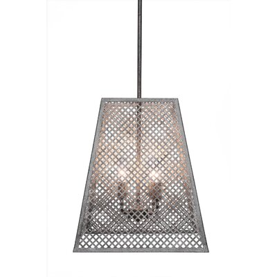 Giusto 4-Light Foyer Pendant Finish: Aged Silver