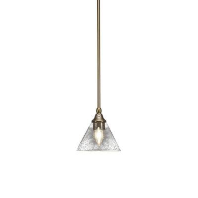 Cyprien 1-Light 100W Bubble Glass Shade Mini Pendant Finish: New Age Brass, Size: 6.25 H x 7 W x 7 D