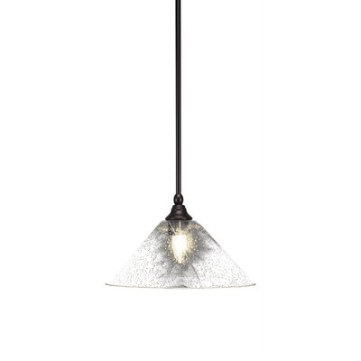 Cyprien 1-Light 100W Bubble Glass Shade Mini Pendant Finish: Espresso, Size: 8 H x 12 W x 12 D