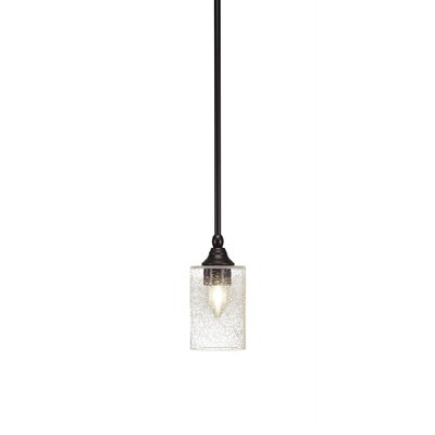 Cyprien 1-Light Bubble Glass Shade Mini Pendant Finish: Espresso