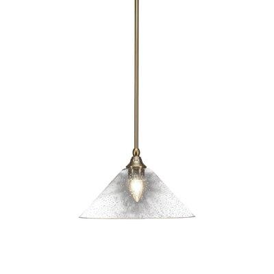 Cyprien 1-Light 100W Bubble Glass Shade Mini Pendant Finish: New Age Brass, Size: 8 H x 12 W x 12 D