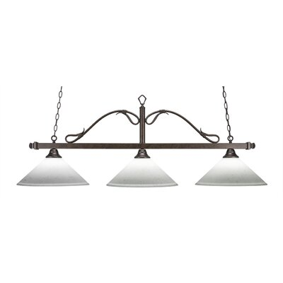Reba 3-Light Kitchen Island Pendant Shade Color: White Muslin