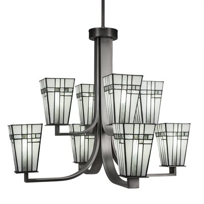 Eurig 8-Light Candle-Style Chandelier Finish: Graphite