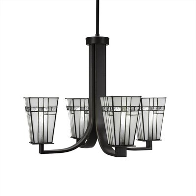 Eurig 4-Light Candle-Style Chandelier Finish: Dark Granite