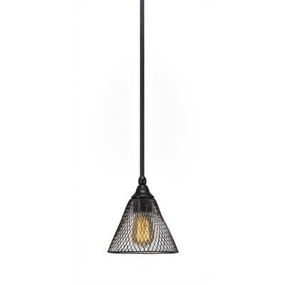 Du 1-Light Mini Pendant Finish: Matte Black
