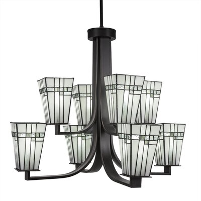 Eurig 8-Light Candle-Style Chandelier Finish: Dark Granite