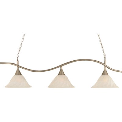 Swoop 3-Light Kitchen Island Pendant Finish: Brushed Nickel