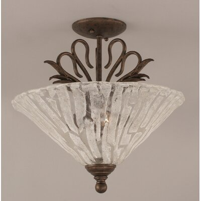 Swan 3-Light Semi Flush Mount