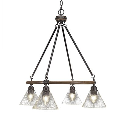 Pujari 4-Light Mini Chandelier Shade Color: Clear Bubble