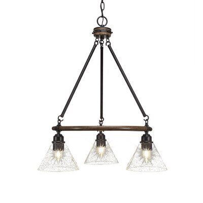 Pujari 3-Light Mini Chandelier Shade Color: Clear Bubble