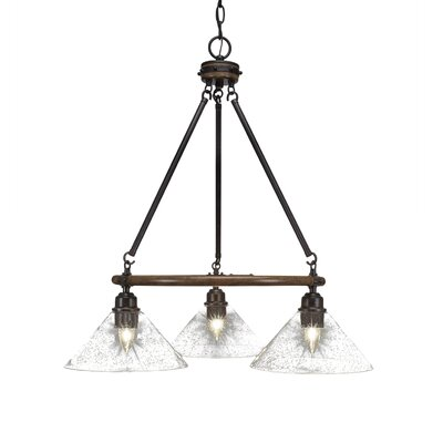 Pujari 3-Light Mini Chandelier Shade Color: White Muslin