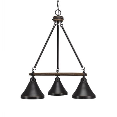 Pujari 3-Light Mini Chandelier Size: 27 H x 20 W x 20 D