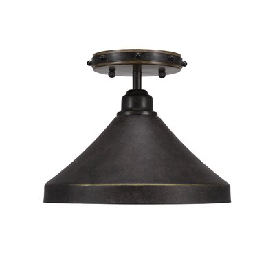 Pujari 1-Light Semi Flush Mount