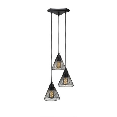 Francene Metal 3-Light Cluster Pendant Finish: Matte Black