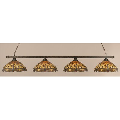 4-Light Kitchen Pool Table Light Finish: Bronze