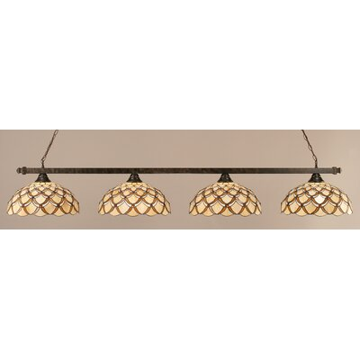 4-Light Kitchen Island Pendant Finish: Bronze