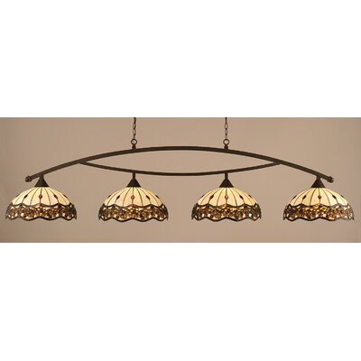 Austinburg Contemporary 4-Light 150W Kitchen Island Pendant Color: Dark Granite