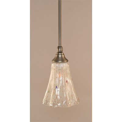 Weatherby Stem 1-Light Mini Pendant Finish: Brushed Nickel, Shade Color: Frosted