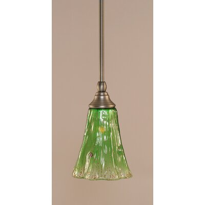 Stem 1-Light Mini Pendant Finish: Brushed Nickel, Shade Color: Kiwi Green