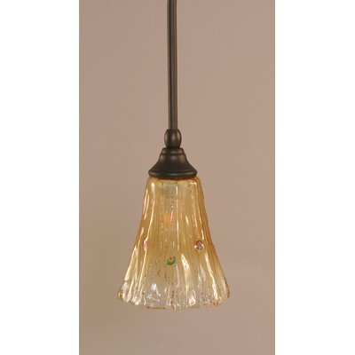 Stem 1-Light Mini Pendant Finish: Dark Granite, Shade Color: Kiwi Green