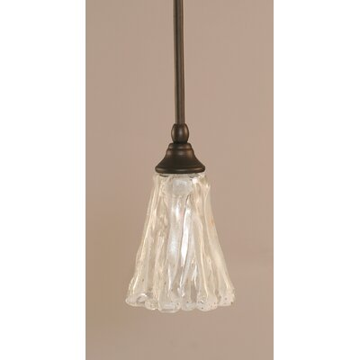 Stem 1-Light Mini Pendant Finish: Bronze, Shade Color: Italian Ice