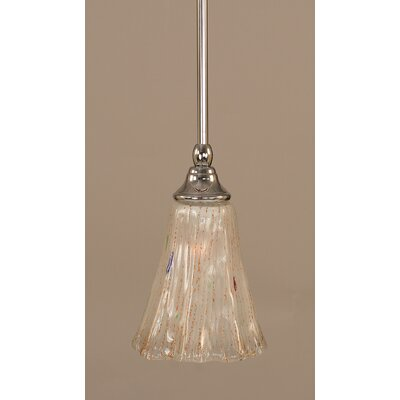 Stem 1-Light Mini Pendant Finish: Chrome, Shade Color: Frosted