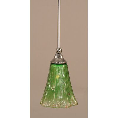 Weatherby Stem 1-Light Mini Pendant Finish: Chrome, Shade Color: Kiwi Green