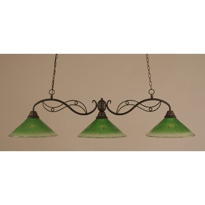 Jazz 3-Light Billiard Pendant Shade: 16