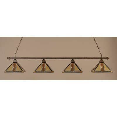 Square 4-Light Billiard Light