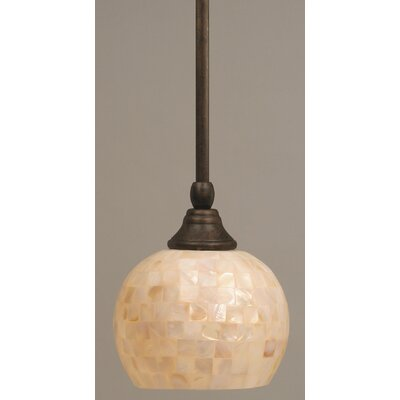 Stem Mini Pendant With Hang Straight Swivel Finish: Bronze