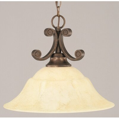 Babin 1-Light Downlight Pendant Shade Color: Italian Marble Glass