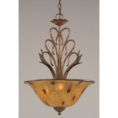 Swan 3-Light Inverted Pendant Shade Color: Pen Shell