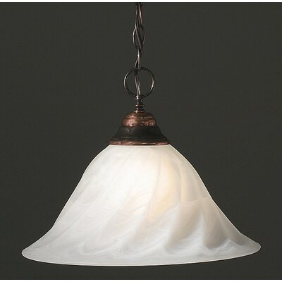 1-Light Bowl Pendant Finish: Bronze