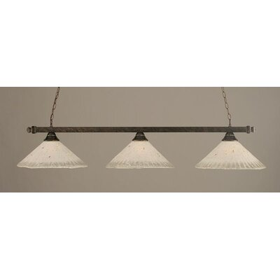 3-Light Square Kitchen Island Pendant Finish: Bronze