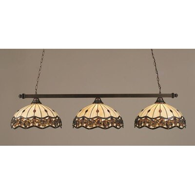 3-Light Billiard Light Finish: Black Copper