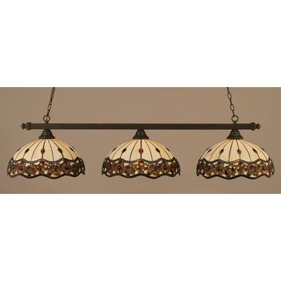 3-Light Billiard Light Finish: Dark Granite