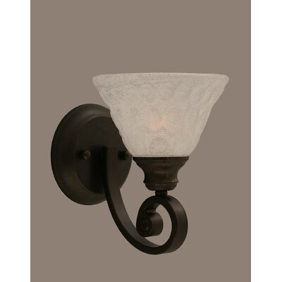 Curl Wall Sconce with Italian Bubble Glass Shade