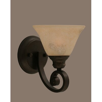 Curl Wall Sconce with Italian Marble Glass Shade