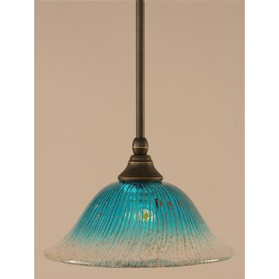 Stem Mini Pendant With Hang Straight Swivel Finish: Matte Black