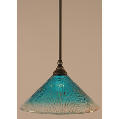 Stem Mini Pendant With Hang Straight Swivel Finish: Dark Granite
