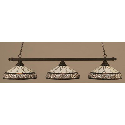 3-Light Square Billiard Light Finish: Brushed Nickel