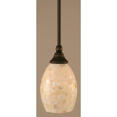 Audry Stem Mini Pendant With Hang Straight Swivel Finish: Dark Granite