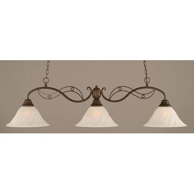 Jazz 3-Light Kitchen Island Pendant Finish: Bronze