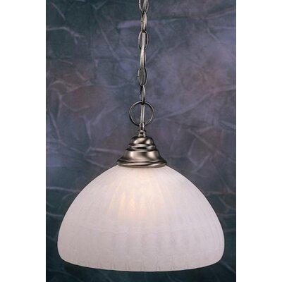 1-Light Bowl Pendant Finish: Black Copper