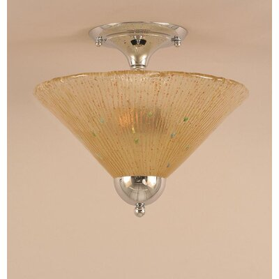 2-Light Semi Flush Mount Finish: Chrome