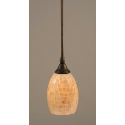 Audry Stem Mini Pendant With Hang Straight Swivel Finish: Bronze