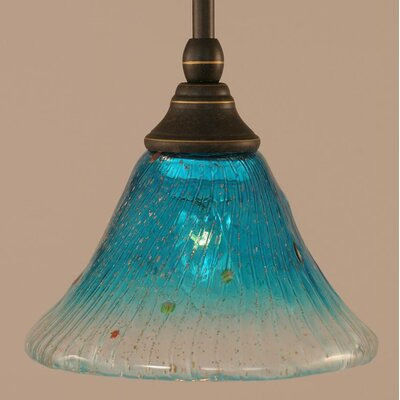 Billingham 1-Light Stem Mini Pendant With Hang Straight Swivel Finish: Dark Granite