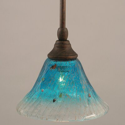 Billingham 1-Light Stem Mini Pendant With Hang Straight Swivel Finish: Bronze