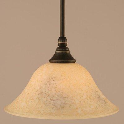 Stem Mini Pendant With Hang Straight Swivel Finish: Dark Granite