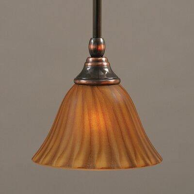 Stem Mini Pendant With Hang Straight Swivel Finish: Black Copper